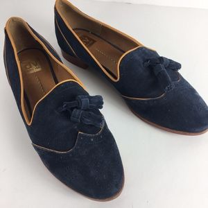 Dolce Vita wing tip suede leather oxfords navy 11